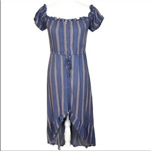 COPY - Band of Gypsies high low button front dress